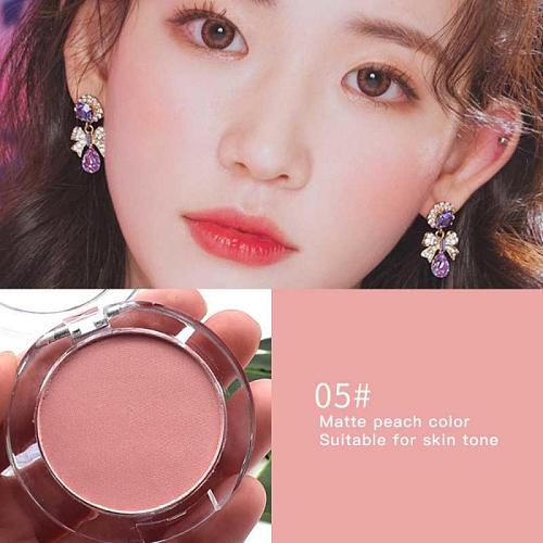 Milk Tea Blush Peach Pallete 6 Colors Face Mineral Pigment Cheek Blusher Powder Makeup Professional Contour Shadow Pink TSLM1