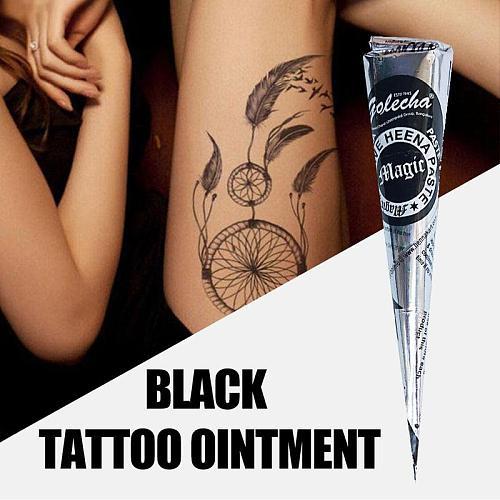 1pc Natural Indian Henna Tattoo Ink Black Mehndi Paste Cones Body Art Sticker Mehndi Body Paint