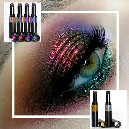 1PC Magic Air Cushion Eyeshadow Pen Glitter Powder Highlighter Eyeshadow Color Pencil Eyeliner Pen Eye Makeup Nial Glitter Tool