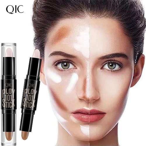 Beauty double-headed concealer stick clavicle shadow pen facial three-dimensional highlight stick concealer pen