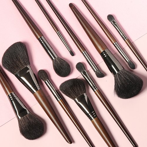 OVW 11pcs Soft Goat Hair Makeup Brushes Set Powder Blusher Contour Highlight Eyeshadow Brush Professional Make Up Tool