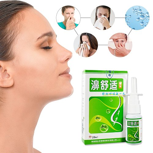 2PCS Portable Nasal Spray Chinese Herb Medical Spray Nasal Cure Rhinitis Sinusitis Congestion Care Nose Itch Relief Sprayer Nose