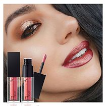 1PC Metallic Matte Lipgloss Not Fade Not Stick Cup Mouth Lipstick Mositurizing Waterproof Longlasting Sexy Lip Makeup 24 Colors