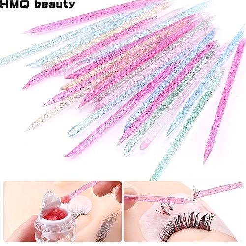 Reusable Crystal Eyelash Stick Double End Effect Separate Eyelashes Glue Removing Grafting Lashes Eyelash Extension Tool Makeup