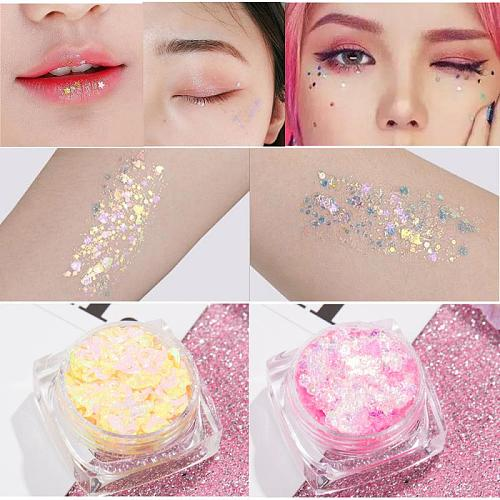 Sequins Glitter Glue Flash Eye Makeup Stickers Tears Stickers Love Stars Stickers Make Up Glitter Eyeshadow maquiagens