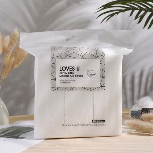 1000Pcs Makeup Cotton Disposal Face Towel Cotton Pads Seal Makeup Remover Wipes Disposable Face Towel Manicure Wipe