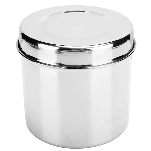 Stainless Steel Medicine Ointment Jar Dressing Cotton Anti-Iodine Container For Hospital Beauty Salon Clinic Cotton Bottle