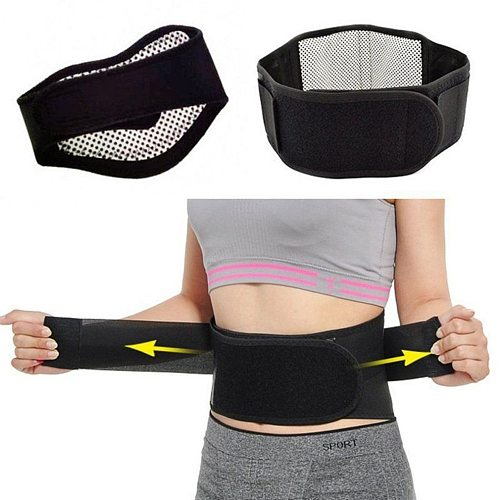 Self-heating Magnetic Therapy Waist Belt Adjustable Tourmaline Back Waist Support Health Care Braces Double Banded Pain Relieve