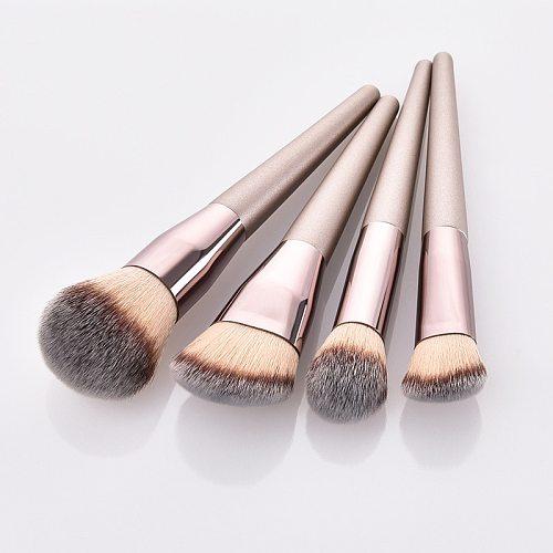 4pcs Makeup Brush Set Foundation Powder Blush Blusher Blending Concealer Contour Highligh Highlighter Face Beauty Make Up Tool