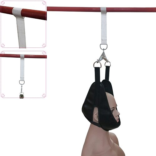 artificial leather Hanging Cervical Traction Belt Stretch Neck Care Medical Chiropractic Pain Relief neck traction