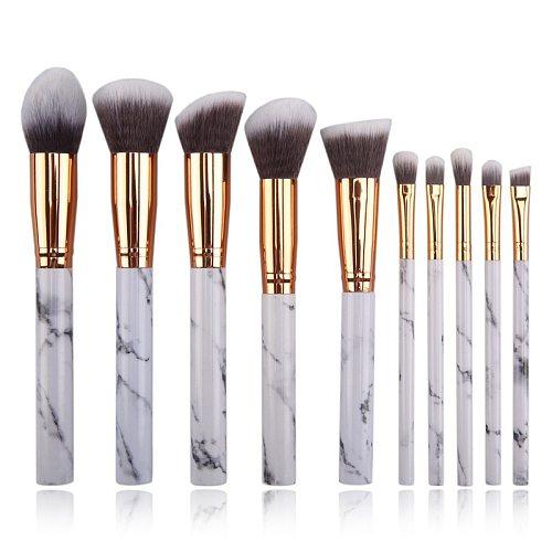 10pcs Marbling Makeup Brushes Set Foundation brushes Professional Eyeshadow  Concealer Blush Brush set Make Up Brush Tool Kit