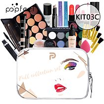 POPFEEL All In One Makeup Kit(Eyeshadow, LiGloss,Lipstick,Brushes,Eyebrow,Concealer)Beauty Cosmetic Bag