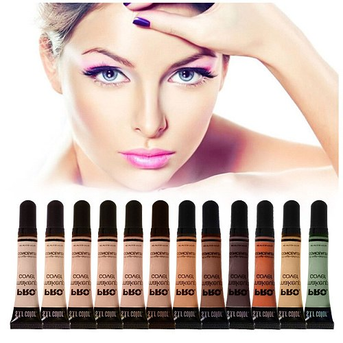 12 Colors Perfect Cover Face Concealer Cream Pro Contour Makeup Waterproof Liquid foundation Cosmetic Pro Face make up
