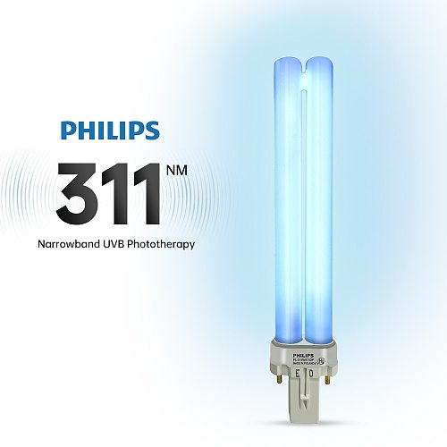 PHILIPS 311NM Ultraviolet Phototherapy Lamp Tube UV Light Bulb UVB Lamp PL-S 9W/01/2P Narrow Band Medium Wave 311nm Suitable