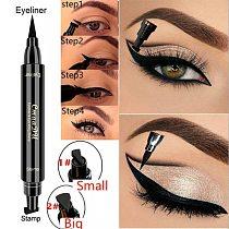 Cmaadu Double Head  Eyes Liner Liquid Make Up Pencil Waterproof Black Makeup Stamps Eyeliner Pencil Lasting Eye Cosmetic TSLM1