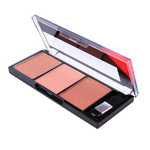 Face Blush Palette Easy To Wear Makeup Natural Powder Rouge Women Makeup Natural Blush Palette Durable Colors Blush With Brush