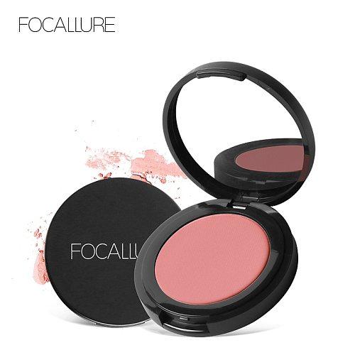 FOCALLURE Blush makeup brand natural cheek well pigmented peach blush powder high quality mineral blusher blush palette
