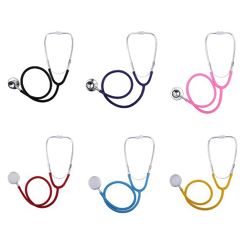 Double Head Stethoscope Professional Cardiology Stethoscope Pediatric Doctor Vet Nurse Student Medical Equipment Health Care