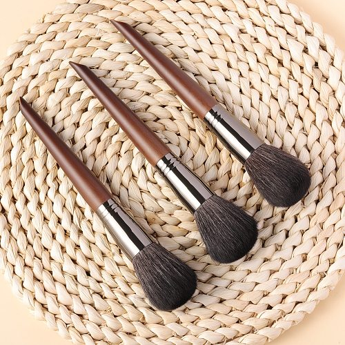 OVW Goat Hair Powder Brush Overall Setting Complete Professional Natural Powder Concealer Contour  Blending Makeup Brush set