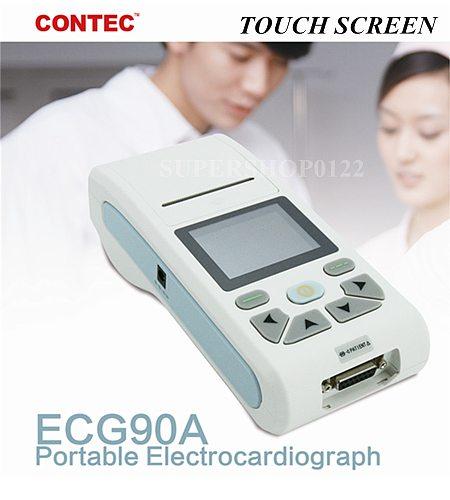 CONTEC ECG90A Handheld Digital ECG machine 1 CHANNEL 12 Lead ECG EKG Electrocardiograph Sync PC Software