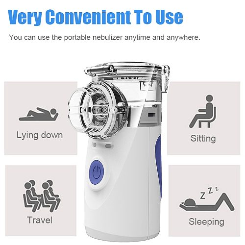 Portable Ultrasonic Nebulizer Handheld  Inhale Nebulizer Mini Rechargeable Respirator Home Care Atomizer For Adult Children