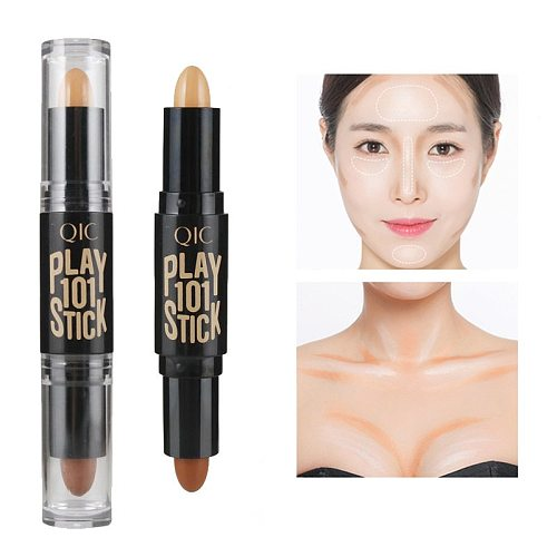 2021NEW Double-ended 2 in1 Contour Stick Makeup Creamy Highlighter Bronzer Create 3D Face Concealer Full Cover Blemish Hot new