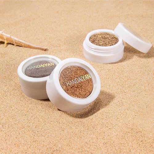 HANDAIYAN Monochrome Pearlescent Sequins Eyeshadow Glitter Sparkle Powder Shimmer Matte Soft Durable Lasting Eye Shadow TSLM1