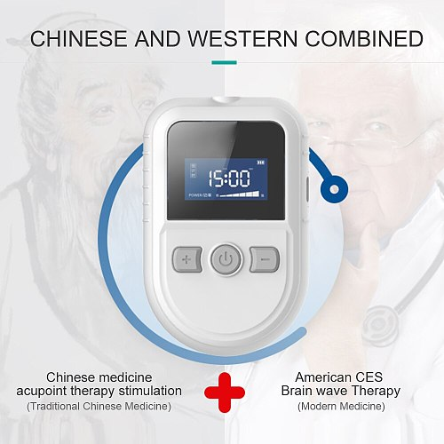100% New Insomnia Anxiety Depression CES Therapy Device Anxiety Relief Alpha-Stim Electronic Apparatus Sleeping Aid Device