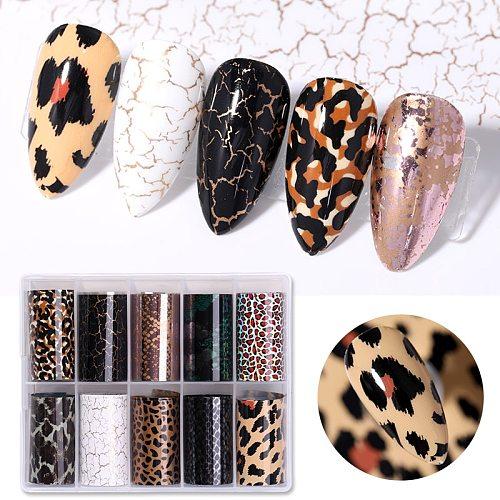 Snake Leopard Nail Foils Marble Nail Art Transfer Sticker Slider Nail Art Decal Manicuring Design Tip Decoration 1 Roll