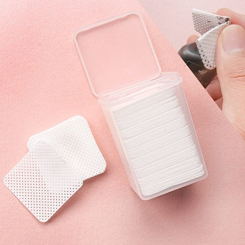 200 pcs Lint-Free Paper Cotton Wipes Eyelash Glue Remover wipe the mouth of the glue bottle prevent clogging glue Cleaner Pads