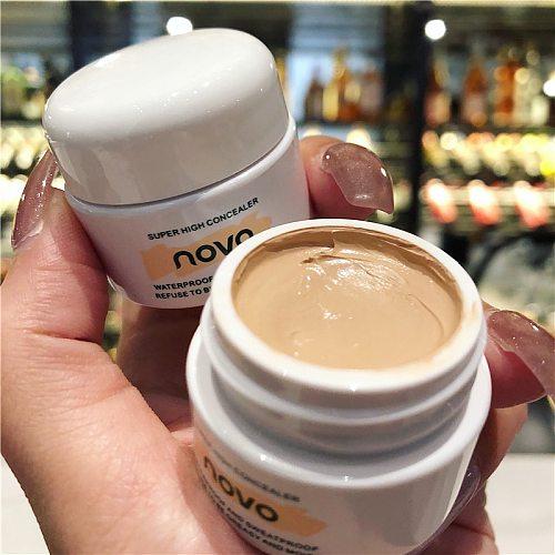 NOVO 3 Colours Full Cover Face Concealer Eye Dark Circle Cream Waterproof Liquid Corrector Cream Base Make Up Cosmetic Wholesale