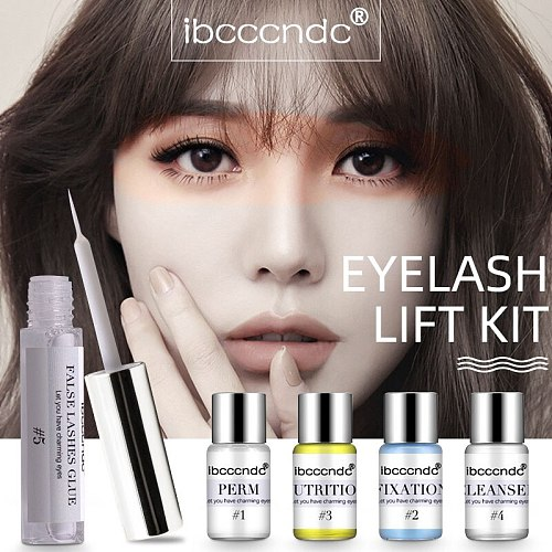 Pro Eye Lash & Brow Lift Perming Eyelash Lift Extension Kit Curling Eye lash Perming Lotion for Home Use Salon Brow Lamination