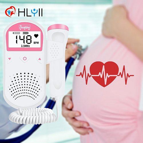 2.5MHz Doppler Fetal Heart rate Monitor Portable Sonar Doppler Stethoscope Ultrasound Baby Heartbeat Detector for pregnant women