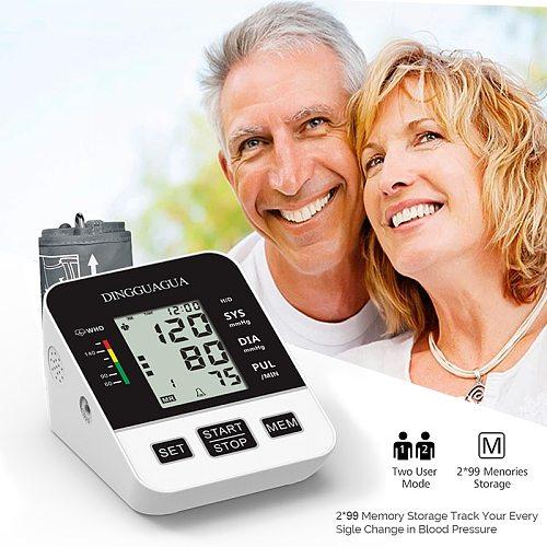 Home Arm Automatic Blood Pressure Monitor BP Sphygmomanometer Pressure Meter Tonometer for Measuring Arterial Pressure LCD displ