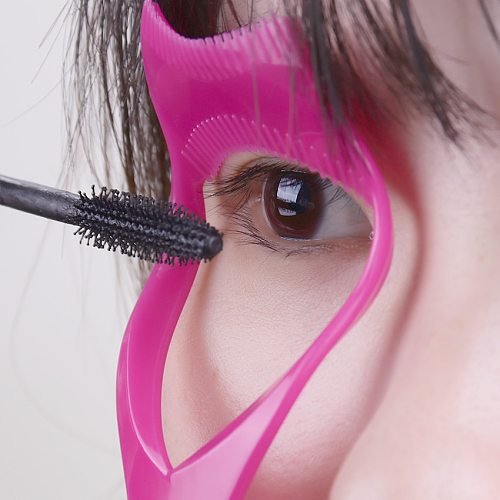 Eyelash Tools 3 in 1 Makeup Mascara Shield Guide Guard Curler Eyelash Curling Comb Lashes Cosmetics Curve Applicator Comb