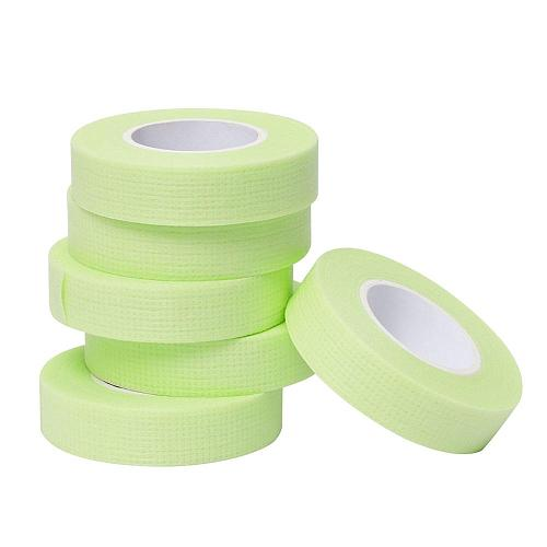 Eyelash Extension Green Tape Sticker Isolation With Holes Breathable Sensitive Resistant Non-woven Patches Eye Pads Makeup Tool