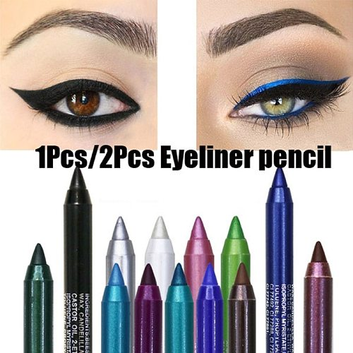 14 Colors Waterproof Not Blooming Eyeliner Pencil Long-lasting No Fade Women Sexy Colorful Eye Liner Liquid Pen Makeup Cosmetic