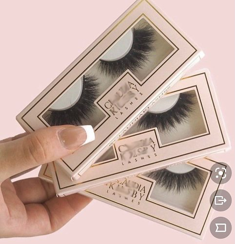 500pcs customize paper eyelashes box with logo wholesale mink lashes box square box with free fast shipping