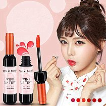 New Arrival Wine Red Korean Style Lip Tint Baby Pink Lip For Women Makeup Liquid Lipstick Lip gloss red lips Cosmetic Hot