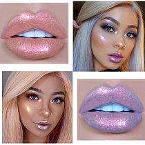 Glitter Liquid Lipstick Lip Plumper Gloss Crystal Glow Laser Holographic Lipsticks Mermaid Pigment Shiny Lipgloss Tube Makeup