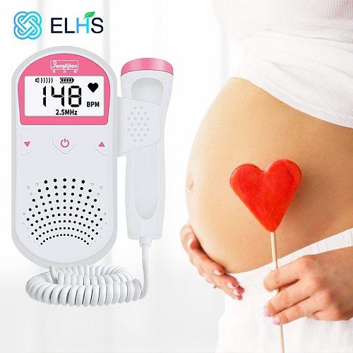 Baby Monitor Fetal Doppler Ultrasound Fetus Doppler Detector Home Portable Sonar Doppler For Pregnant 2.5MHz No Radiation