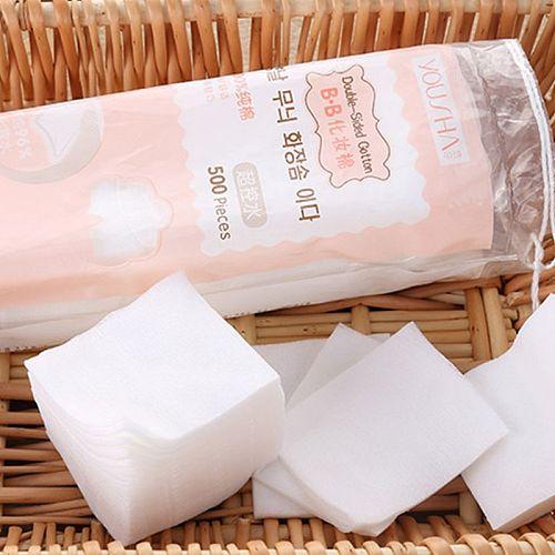 500Pcs/Bag Facial Thin Non-Woven Makeup Cotton Pads Nail Polish Remover Tissues