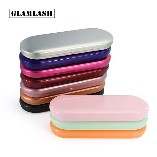 GLAMLASH Portable eyelash tweezer storage box lash tweezers case Makeup Bag Protective Brushes Pencil Eyeliner Case Organizer