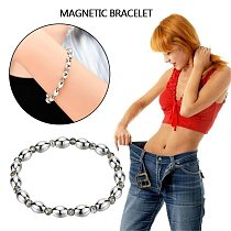 1pc Fashion Healthy Care Weight Loss Anklet Magnet Bracelets for Foot Hematite Elastic Bracelet Pain Relief for Women Man