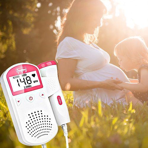 Fetal Doppler Pregnant Fetal Detector Baby Heartbeat Pulse Meter Pocket Doppler Monitor Upgraded 3.0MHz Women Doppler