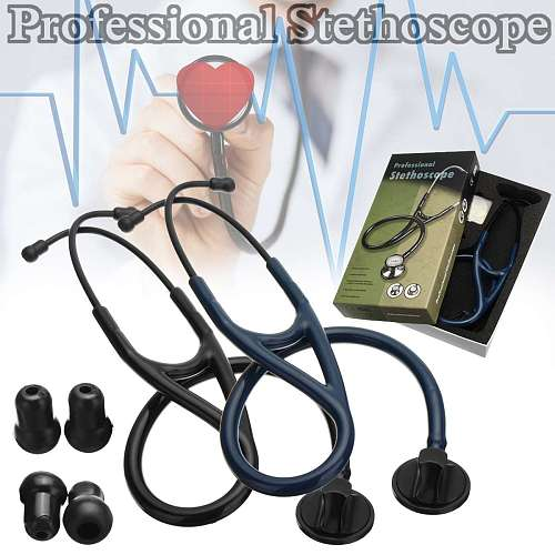 Single Head Blood Pressure Stethoscope Professional Acoustical Heart-Lung Cardiology Doctor Equipment Nurse Vet Device