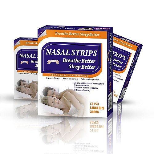 3000pcs=100boxes/lot(66x19mm) Anti Snoring Products Sleep Aid Device Non Woven Skin Color Breathe Right Nasal Strips
