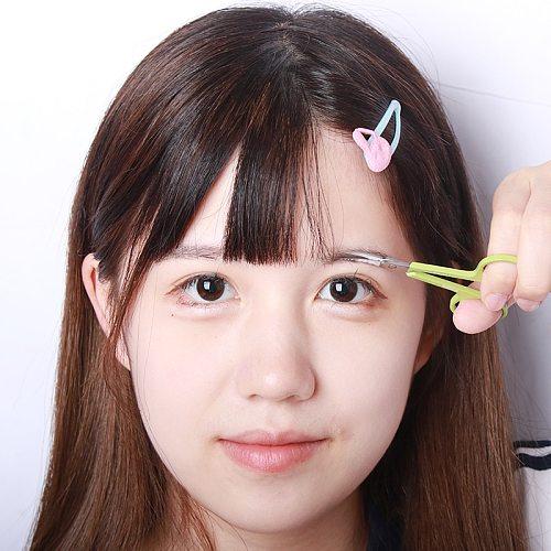Brainbow 1pc Stainless Steel Makeup Scissor Eyebrow Eyelashes Nose Hair Trim Scissor Sharp Ponit Curve Tip Small Eyebrow Scissor