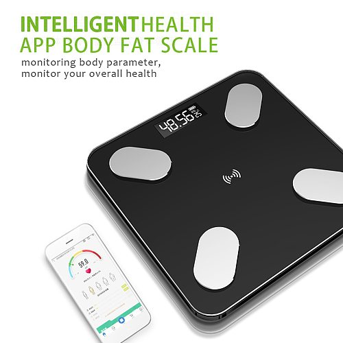 Body Fat Scale BMI BMR Muscle Mass Scale Smart Electronic Scales LED Bathroom Weight Scale Balance Body Composition Analyzer
