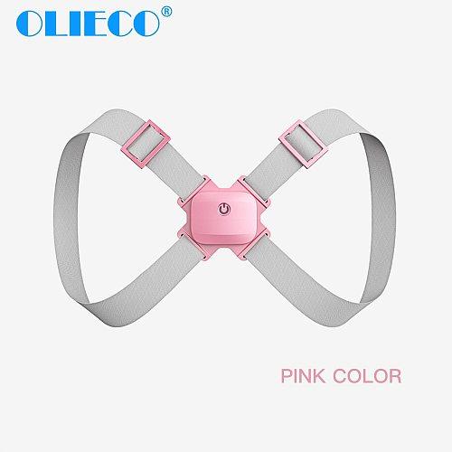 OLIECO Rechargeable Intelligent Posture Correction Belt Portable Adult Children Spine Correction Belt Shoulder Strap Adjustable